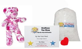 "Make Your Own Stuffed Animal Mini 8 Inch ""Cammie"" the Pink Camo Bear - No Sew... - $15.67"