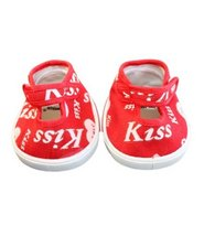 "Red Kiss Heart Shoes Teddy Bear Clothes Fits Most 14"" - 18"" Build-a-bear... - $8.67"