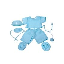 "Doctor ""Scrubs"" Outfit Teddy Bear Clothes Fit 14"" - 18"" Build-A-Bear, Ve... - $11.75"