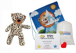 "Make Your Own Stuffed Animal Chip the Bear 16""- No Sew - Kit With Cute Backpack! - $20.68"