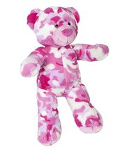 Cuddly Soft 8 inch Stuffed Pink Camo Teddy Bear - We stuff 'em...you lov... - $11.75