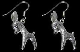 COOL Donkey earrings mule jackass burro sterling silver .925 - $52.79