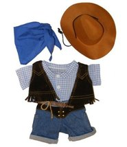 """Cowboy w/Hat and Scarf Outfit Teddy Bear Clothes Fit 14"""" - 18"""" Build-A-B... - $11.75"""