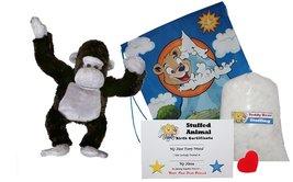 "Make Your Own Stuffed Animal ""Silverback the Gorilla"" - No Sew - Kit Wit... - $16.91"
