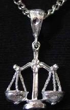 COOL Libra scales Pendant Zodiac Charm Silver .925 Jewelry - $20.31