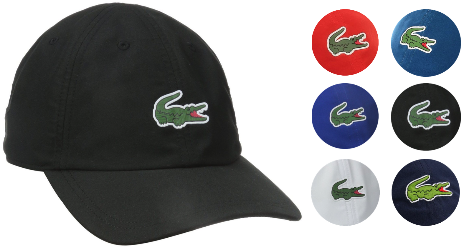 New Lacoste Men's Premium Classic Croc Logo Sport Polyester Adjustable Hat Cap