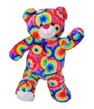 Cuddly Soft 16 inch Stuffed Tie Dye Teddy Bear - We stuff 'em...you love 'em! - $14.55