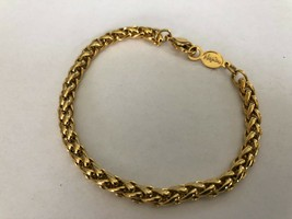 """Napier Signed Chunky Gold tone Twisted Chain Bracelet -9"""" Long - $14.36"""