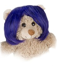 "Short Bob Purple Wig Fits Most 14"" - 18"" Build-a-bear, Vermont Teddy Bea... - $12.73"