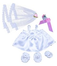 """Bride w/Veil and Bouquet outfit Teddy Bear Clothes Fit 14"""" - 18"""" Build-A... - $10.54"""