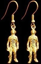COOL Gold Plated Gothic Halloween Egypt Mummy Earrings - $33.65