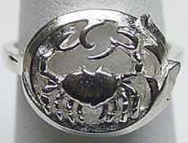 COOL CANCER Zodiac Astrology sign Jewelry ring Silver Crab - $19.31
