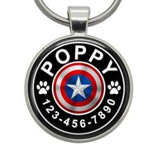 Pet ID Tag - Captain America (Marvel) - Dog ID Tag, Cat ID Tag, Pet Tag,... - $19.99