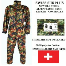"SWISS ARMY SIZE 58/82 CAMO TANKER COVERALLS(52""CHEST X 40""WST. X 30""INS.... - $33.94"