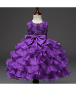 Toddler Infant Party Ball Gown Dress Purple dress for Baby Girl Birthday... - £45.81 GBP
