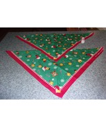 Two Brand New Christmas Emoji Holiday Design Dog Bandanas 4 Dog Rescue C... - $9.39