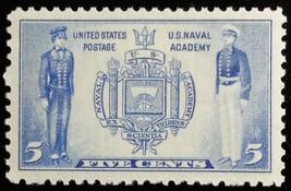 1937 5c U.S. Naval Academy Seal & Naval Midshipmen Scott 794 Mint F/VF NH - $1.97