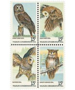 1978 15c American Owls, Block of 4 Scott 1760-63 Mint F/VF NH - $1.57 CAD