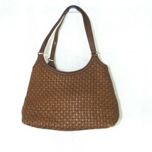 Fossil Basket Weave Shoulder Bag Purse Handbag Brown 8 inch x 12.5 inch ... - $19.79