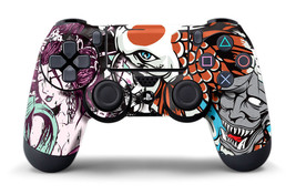 Designer Skin Sticker for PS4 Playstation 4  Dualshock Controller Decal TSUNAMI - $5.82
