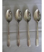 4 Coffee Tea Spoons Holmes & Edwards Inlaid IS Youth Floral Pattern Flat... - $14.99