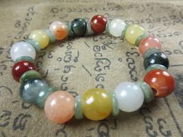 Real 100 % Multi-Color Jade Stone Bracelet Magic Charm Thai Buddha Amulet Ama114 - $9.99