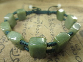 Real 100 % Green Jade Stone Bracelet Magic Charm Top Thai Buddha Amulet Ama111 - $7.99