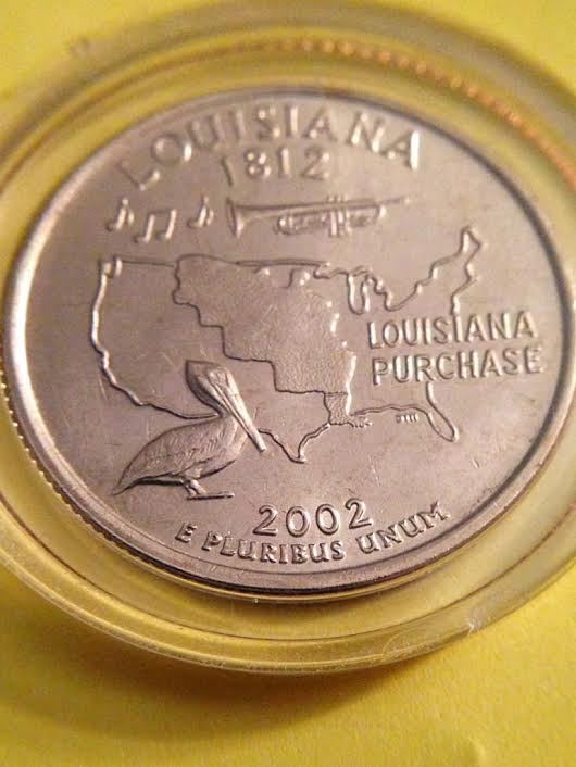 2002 P Louisiana US States Quarter Series