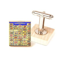 matchbox car cufflinks vintage image car cufflink unique gift handmade c... - $12.87