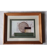 Vintage Charm Style Framed Wall Art Picture Hanging Green Beige Brown Fr... - $19.79