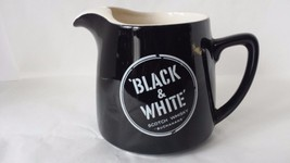 Ceramic Liquor Pitcher Advertisement Black and White Scotch Whiskey - $14.84