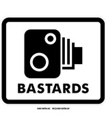 Bastards self cling vinyl Window sticker 15x13cm traffic sign speed came... - $4.33