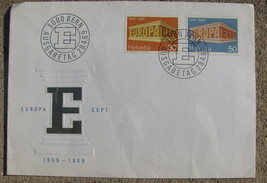 Switzerland FIRST DAY OF ISSUE STAMP Cover 1969 Europa pair of 2 - $9.98