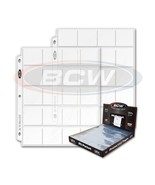 100 - 20 Pocket 2x2 Coin or Slide Page Sheet Protector Pro20T for 3 ring... - $317,91 MXN