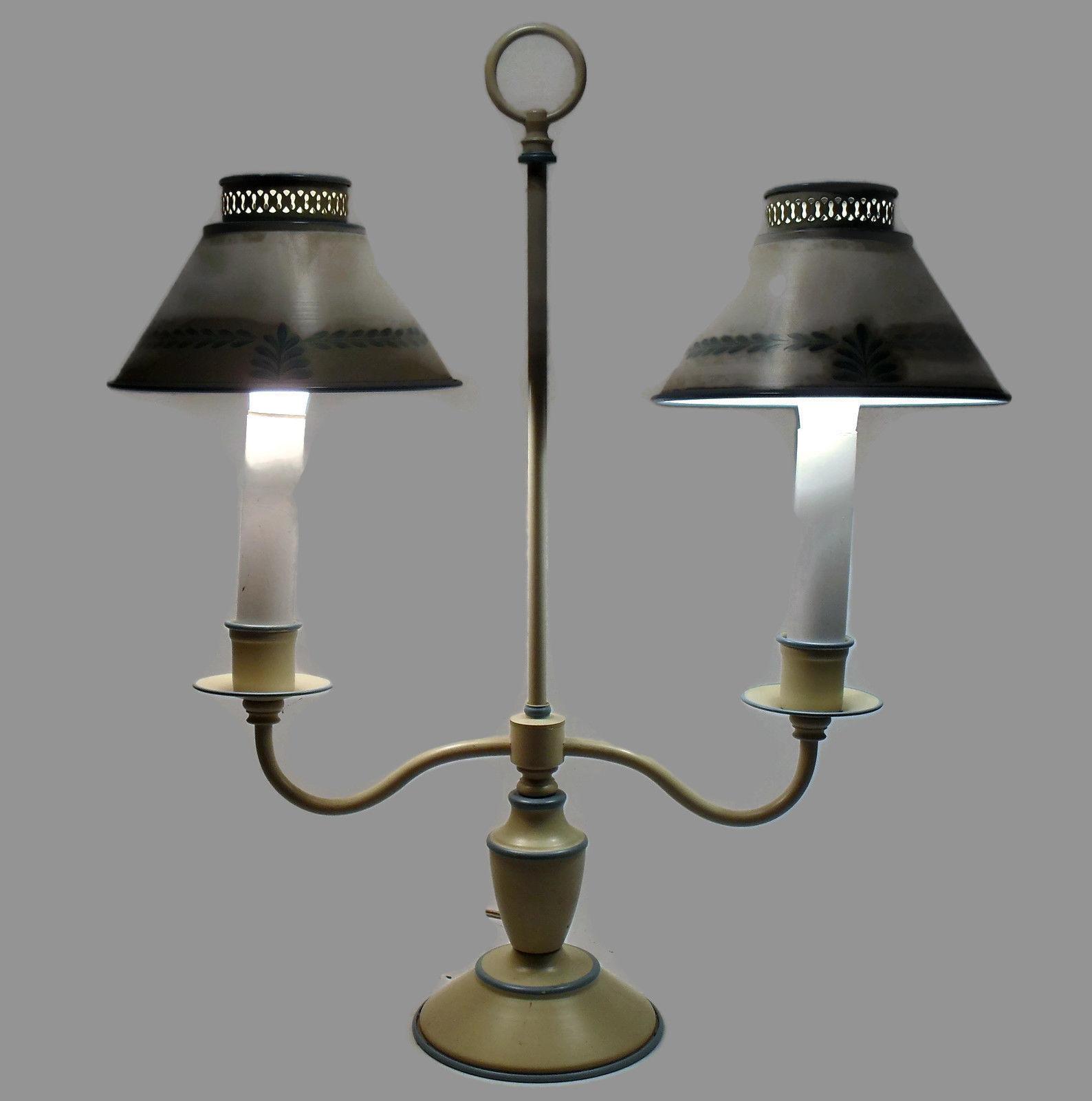 Table Lamps For Desks : Toleware vintage metal desk table accent lamp lamps