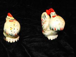 Proud Cocks Roosters Salt & Pepper Shakers Vintage - $16.99