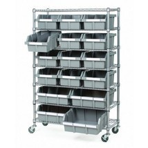 Self Storage Container Shelf Bin Rack Shop Roll... - $204.98