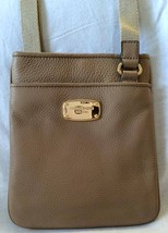 AUTHENTIC MICHAEL KORS JET SET ITEM CROSSBODY LEATHER KHAKI,$158 - $75.51