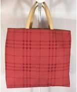 Authentic Burberry small Nova Check Tote Handbag Limited Edition Vintage... - $144.59