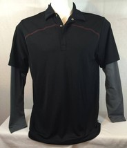 New Nike Golf Tour Performance dry-fit Layered Polo Shirt Men's Size: L - $26.97