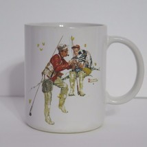 Trout Dinner by NORMAN ROCKWELL 1987 Coffee Mug Museum Collection Japan ... - $8.81