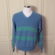 Vintage Woolrich Sweater Mens Large Cotton Chunky Cable Knit Blue  -H - $261,85 MXN