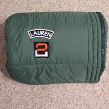 "Ralph Lauren University Tate Comforter Sleeping Bag 66""x86"" Green Orange - $19.35"