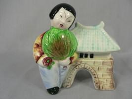 Vtg Asian Pocket Planter Made in Japan Hand Pai... - $19.75