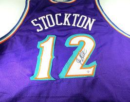 JOHN STOCKTON / NBA HALL OF FAME / AUTOGRAPHED UTAH JAZZ CUSTOM JERSEY / COA image 1