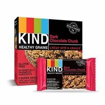 KIND Healthy Grains Granola Bars, Dark Chocolate Chunk, Gluten Free, 5 Count, Pa