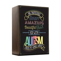 Inspired Home An Incredible Kid - Autism Awareness Box Sign Size 4x5.5 - $14.70