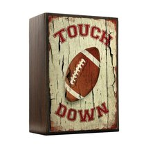 Inspired Home Touch Down! Football Box Sign Size 4x5.5 - $14.70