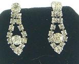 V174 elongated teardrop rhinestone earrings thumb155 crop