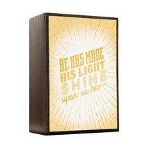 Inspired Home He Has Made his Light Shine - Psalm 118 Box Sign Size 4x5.5 - $14.70